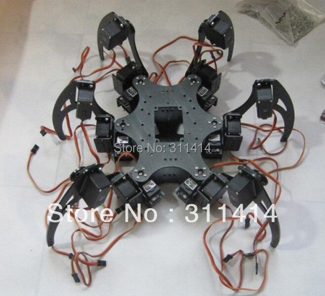 Set aluminium hexapod spider six dof legs robot frame