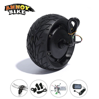 48V 1000W 8 Inch Electric Bicycle Motor Kit Fat Tire 200*90 8''wheel Brushless Toothless Hub Motor E bike Wheel with Accessory