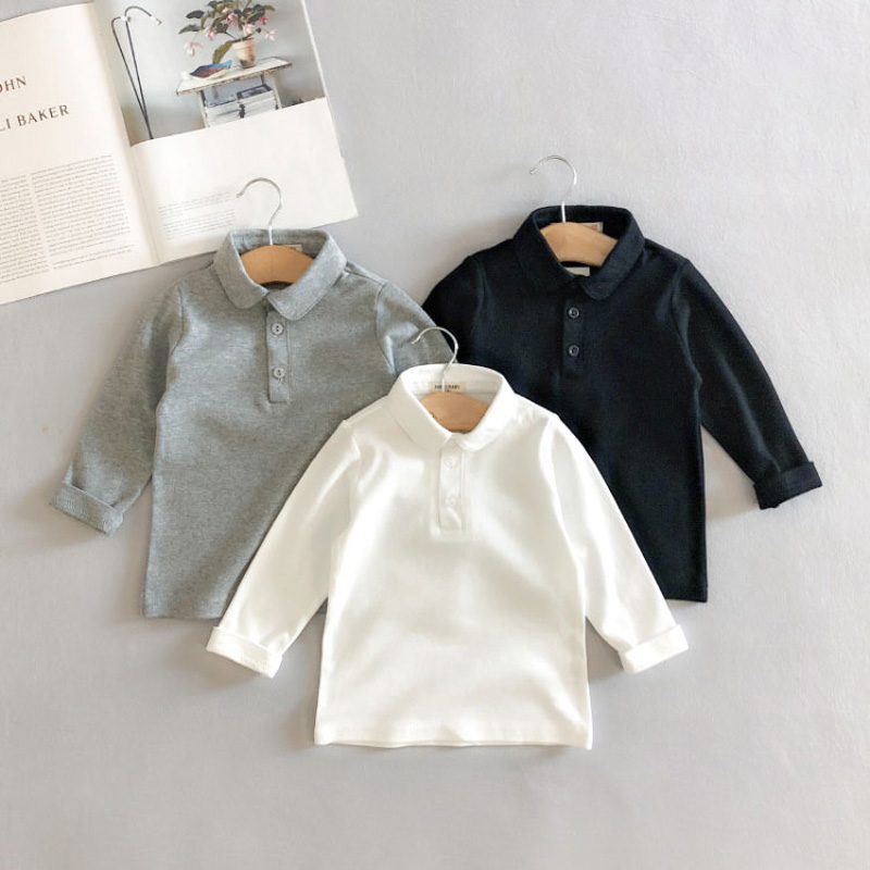 2019 New Autumn Cotton Baby Boys Shirts Casual Baby Boy Tees Tops Children Clothing For Age 1-9 Years Old BC397