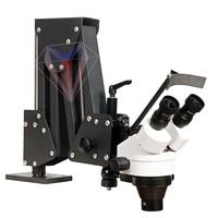 Flexible Arm Zoom Microscope For Jewelry Stone Diamond Repairing Setting