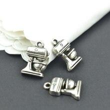 25 uds. De colgantes de aleación de Zinc y plata envejecida, accesorios de joyería Diy, venta al por mayor, 16x11mm 22103