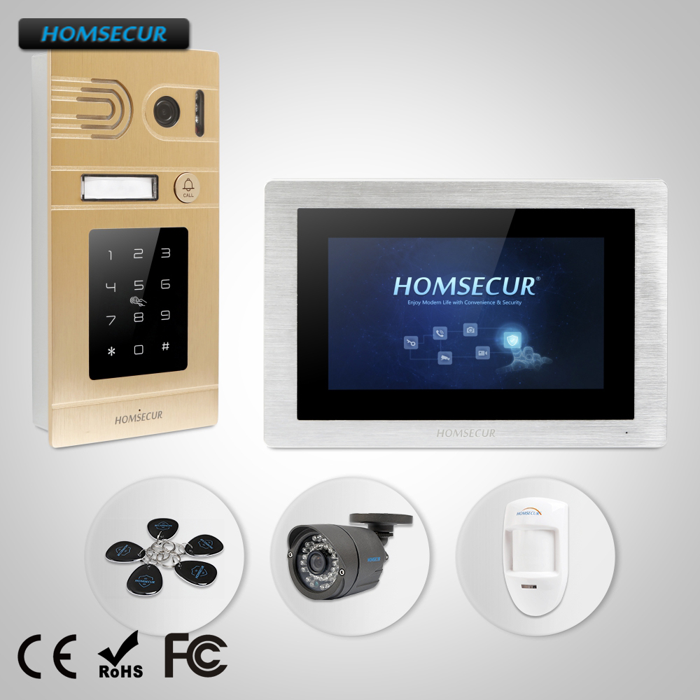Homsecur 7 Quot Wired Video Amp Audio Home Intercom With Call