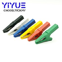 цена на 6 Colors Battery Test Clip 55MM HV Alligator Clip For Banana Plug 4mm Multimeter Pen Cable Probes Crocodile Clip