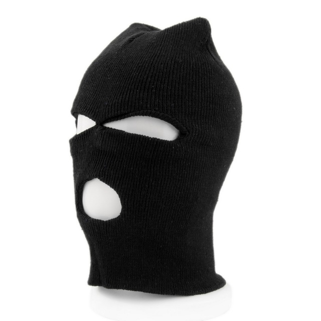 Face Mask bike Full Face Cover Ski Mask Three 3 Hole Balaclava Knit Hat  Winter Stretch e837837110f1