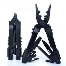 8 IN1 Multi Camping Tool Folding Pliers Knife Outdoor Survival Hand Tools Black Stainless Steel Herramientas Cycling Pliers