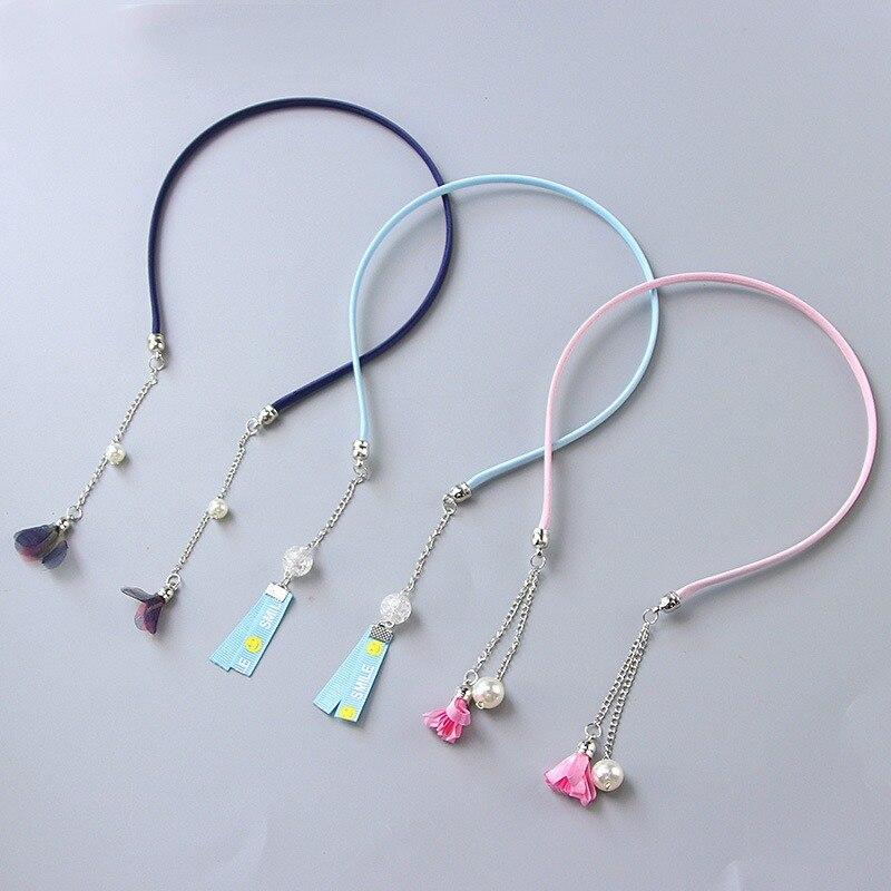 Girl retro tassel fake earring hair hoop bands holder headband accessories