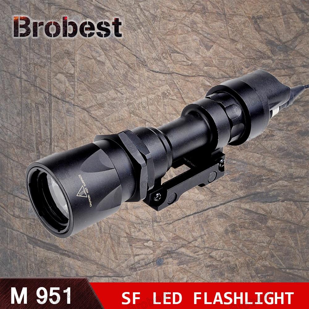Nouveau meilleur M951 tactique lampe de poche LED AR militaire arme lumière constante et momentanée sortie avec interrupteur à bande