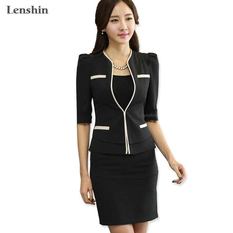 Fashion slim work wear uniform Jacket Women half Sleeves V neck Coat elegant female Blazer ladies Vogue casual office tops