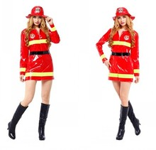 Ladies Purim Brand New adult woman perfomance dress Halloween fireman cosplay firefighter costume uniform