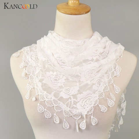 KANCOOLD Scarf Women Lace Tassel Rose Floral Hollow Scarves Shawl Lady Wraps Nylon High quality scarf women 2018Nov2 Karachi