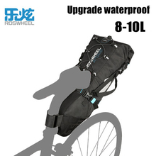 roswheel full waterproof bicycle bag tail large capacity rear seat mountain bike riding backpack road equipment