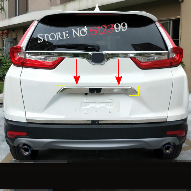 ABS Chrome Rear Tail Trunk Lid Molding Cover Trim 1pcs Car Styling ...