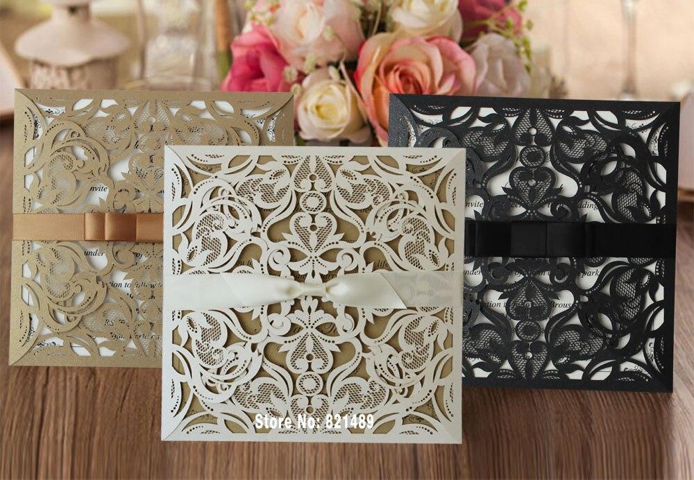 Aliexpresscom buy elegant wedding invitation laser cut for Buy wedding invitations in store