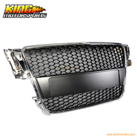 For 2008 2010 Audi A5 Honeycomb Front Hood Grill Grille Chrome USA Domestic Free Shipping