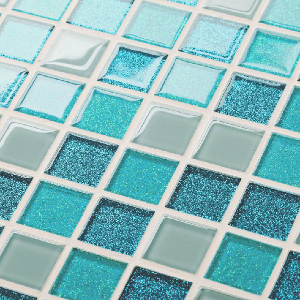 US $186.89 |Glass tile backsplash kitchen bath mosaic green swimming pool  tile cheap wall floor tile bar counter island tile discount mosaic on ...