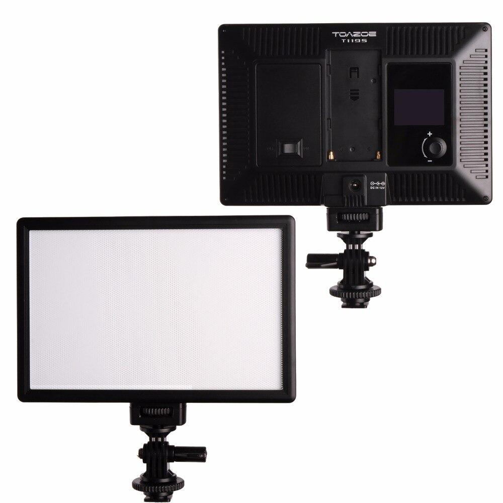 Luz de video LED TOAZOE T119S Pantalla LCD ultradelgada bicolor - Cámara y foto - foto 2