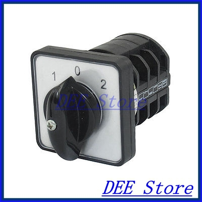 AC 440V 10A 12 Terminals 3 Positions Rotary Changeover Cam Switch LW8-10/3 rotary switch ymz12 25 4 changeover cam combination switch 4 poles 8 positions 14 terminals 25a ui 690v sliver point contacts