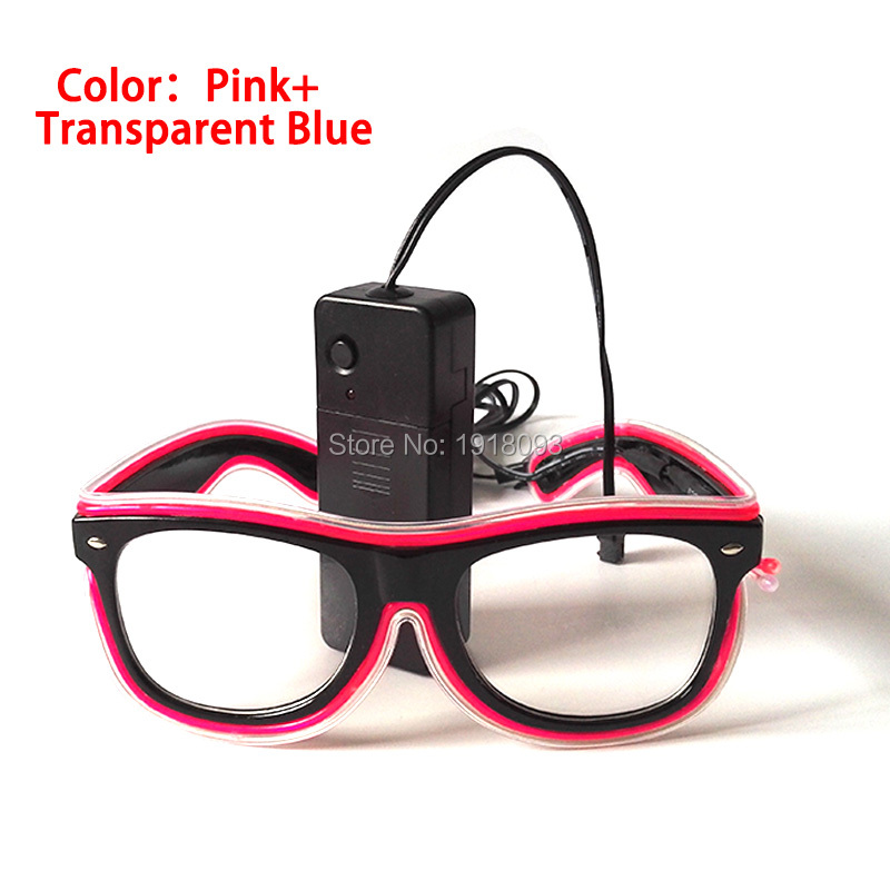 10pieces Event Party Supplies EL Wire Glasses 5 Style Available Sound activated Driver Light up Glasses Holiday Lighting Props 3m 2 3mm el wire 3v aaa sound activated battery inverter mix order available