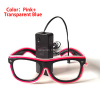 10pieces Event Party Supplies EL Wire Glasses 5 Style Available Sound activated Driver Light up Glasses Holiday Lighting Props