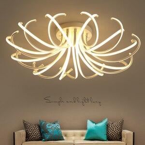Image 1 - 거실 침실 현대 Led 천장 조명 화이트 컬러 알루미늄 avize AC85 265V lamparas 드 수첩 천장 램프 조명기구