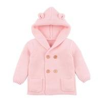 Pasgeboren Baby Breien Vest Winter Warm Baby Truien Jongens Meisjes Lange Mouw Kapmantel Jas Kids Uitloper Kleding Outfit 3
