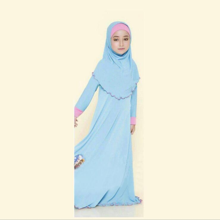 Image 4 - tonlinker ramadan Traditional Kids clothing Fashion Child baya  Muslim Girl dress abaya islamic big girl Children 3pcs CosplayGirls  Costumes