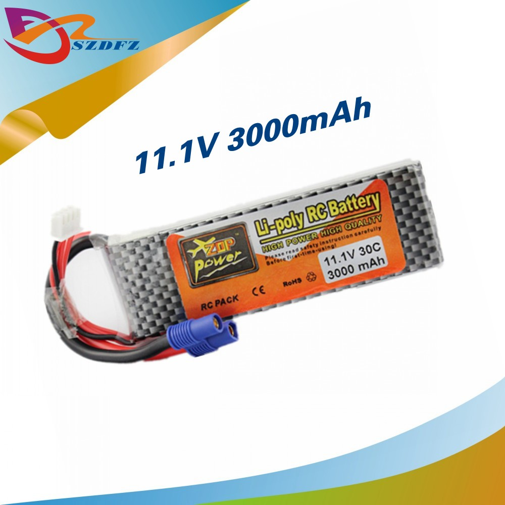 Zop Power Lipo Battery 11.1v 3000mah 3S 30C EC3 Plug Polymer Lithium for  Blade 350QX/450 RC Helicoper Drone Bateria ZOP original-in Parts &  Accessories from ...