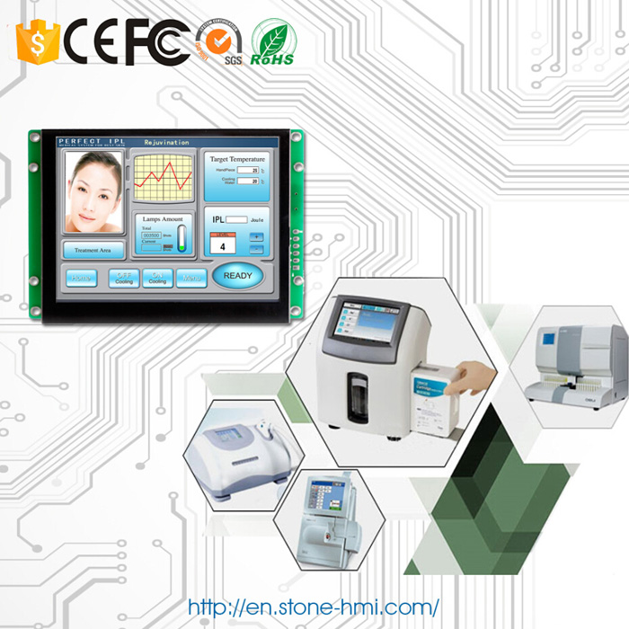 5 inch embedded HMI touch screen with RS232 RS485 TTL MCU port - 6