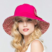 2fce041b Summer Large Brim Beach Sun Hats for Women UV Protection Hat Women with Big  Heads Foldable