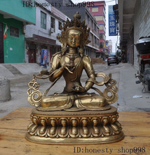 цена на Crafts statue Tibet Buddhism Fane Brass Vajrasattva Vajradhara Guan Yin Kwan-yin Buddha Statue