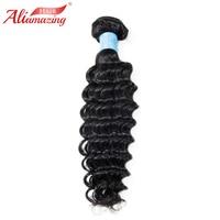 Ali Amazing Hair Deep Wave Brazilian Hair Weave Bundles 1pcs Remy Human Hair Bundles Extensions Natural Black #1B Free Shipping