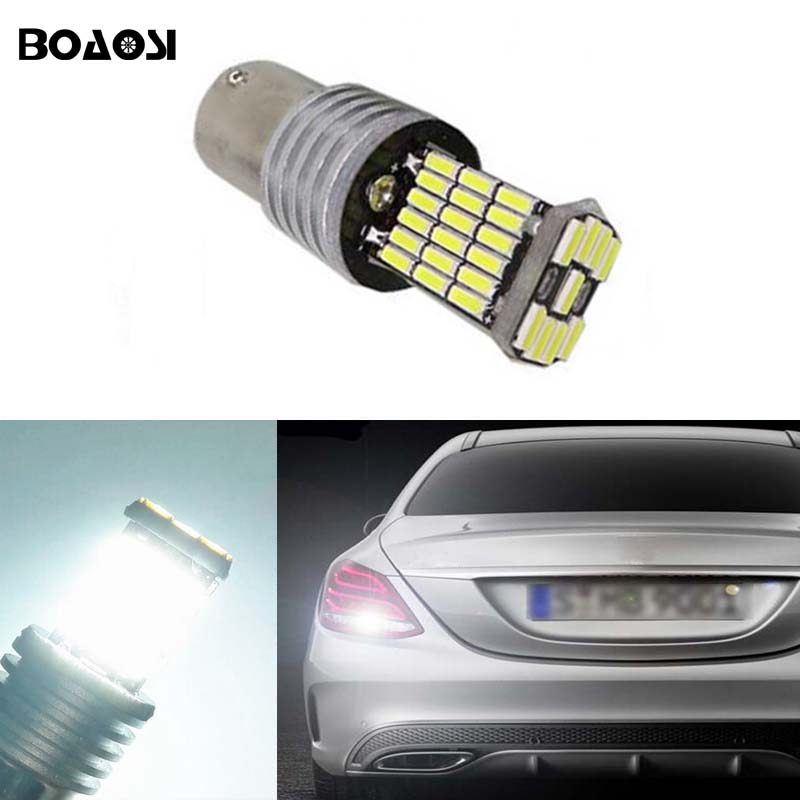 BOAOSI 1x 1156 4014SMD Canbus NO Error Cree Chips LED Car Rear Reversing Tail Light For Mercedes Benz w204 C class 2007-2014 2pcs 12v 31mm 36mm 39mm 41mm canbus led auto festoon light error free interior doom lamp car styling for volvo bmw audi benz