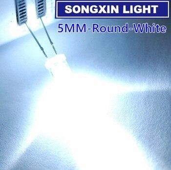 50 шт./упак. Ультра-яркий белый прозрачный СВЕТОДИОДНЫЙ диодный светильник 5 мм 14000 мкд 5 мм (Дип 3 в 6000 К Ультраяркий)