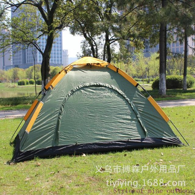 Automatic tent, outdoor single deck automatic tent, outdoor double automatic single layer tent, undertake OEM order