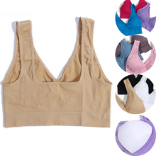 NEW 3pcs/set Sexy Tank Tops Sports Bra Removable Pads Seamless Sleeping Bra Push Up Bras Plus Size XXXL Wireless Underwear
