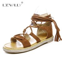 Lsewilly Woman Cross Straps Sandals Gladiator Sandals Falt Fashion Summer Female Sexy Women Fisherman Shoes 2018 Big Size S123