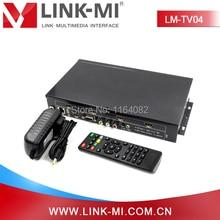 LINK-MI LM-TV04 4ช่องHDMI VGA AVประมวลผลวิดีโอ2×2ผนังควบคุมวิดีโอ