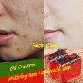 Rose Jabón Hecho A Mano Hidratante Blanqueamiento Cuidado Facial de Control de Aceite de Jabón Para Hombre y Niño 100% Natural Extracto de Hacer Jabones Artesanales