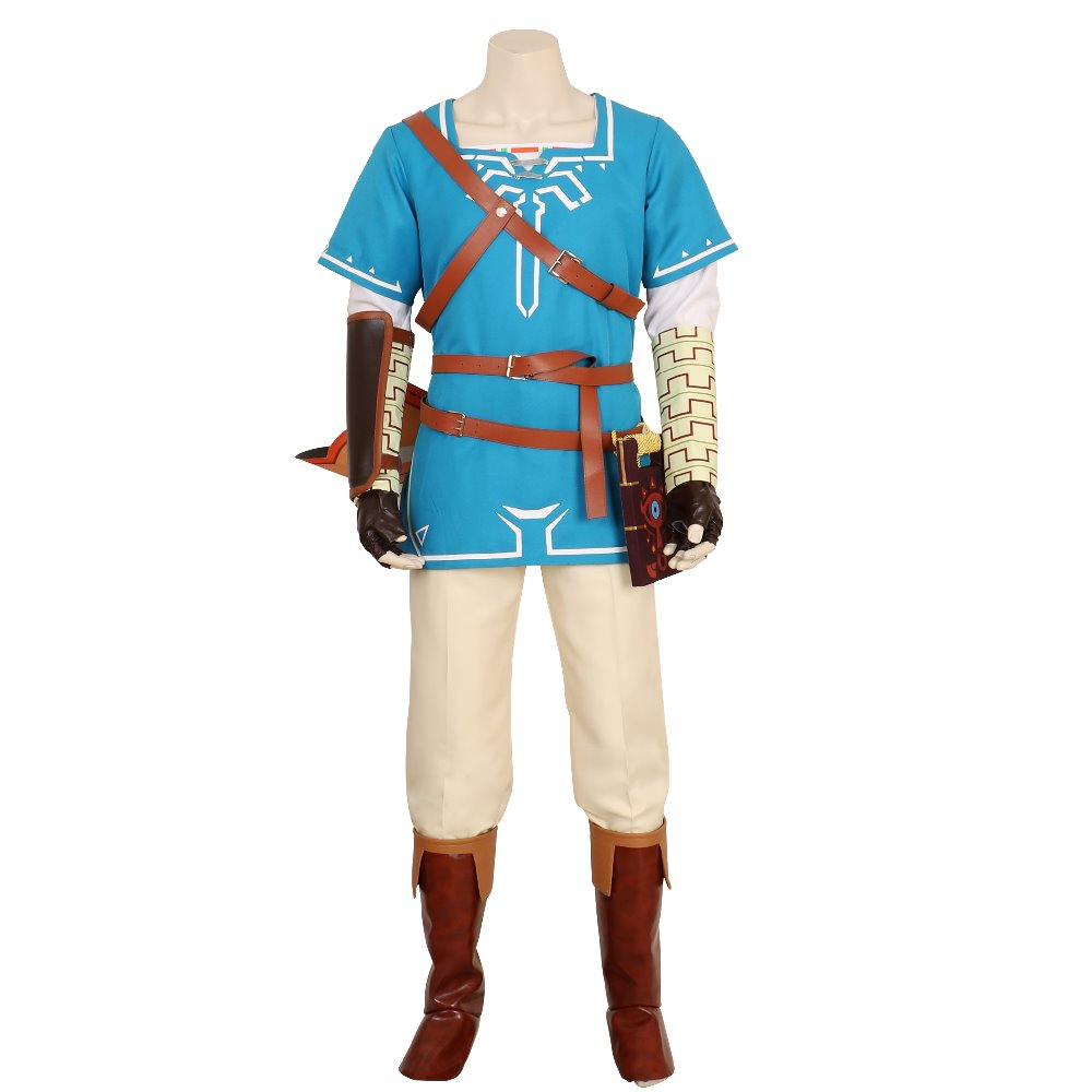 Halloween The Legend of Zelda Breath of the Wild Link Outfit Sheikah Slate Uniform Quiver Cosplay Costume Game Anime Japanese