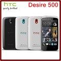500 abierto original htc desire 500 8mp 1800 mah 4.3 pulgadas 4 gb rom 1 gb ram pantalla táctil reformado teléfono móvil libre gratis