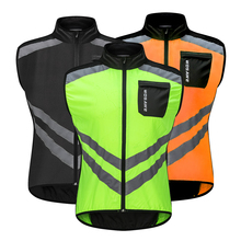 WOSAWE Bicycle Clothes High Visibility Reflective Jacket Safety Vest mtb Road Cycling Warning Vest Protection Gear Wind Coat high safety warning security visibility reflective work vest coat gear waistcoat high quality new arrival