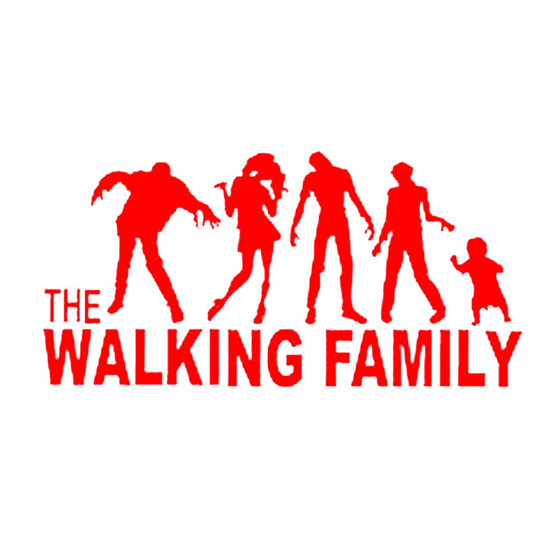 15.7cm*7.7cm Funny Familie On Board The Walking Dead Zombie Motorcycle Decal Car Sticker Vinyl S8-1085 ...