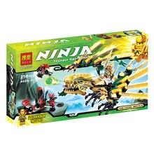 The Golden Dragon Building Blocks Sets 258pcs Bela 9793 Educational Toys Brick Ninjagoes Christmas Gift for Kids