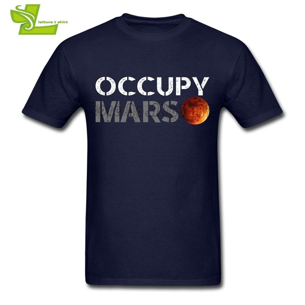 Elon Moschus Besetzen Mars T-shirt Männlich Neueste Einzigartige T Kundenspezifische t-shirts Lose T-Shirts männer Sommer 100% Baumwolle Billig Dad Tees