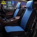 2017New Estilo Delantero Trasero 100% Tejido de Poliéster Universal Car Seat Covers 9 Unids/set Auto de Lujo Rosado Lindo protector de Asiento de Coche