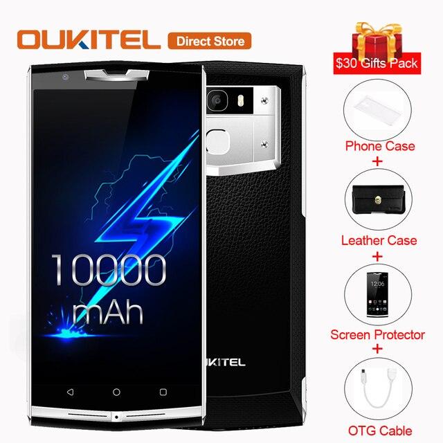 Oukitel k10000 Pro 4 г LTE Смартфон Android 7.0 mtk6750t Octa core 3 ГБ + 32 ГБ 13.0mp + 5.0mp 5.5 дюймов 10000 мАч Батарея мобильного телефона