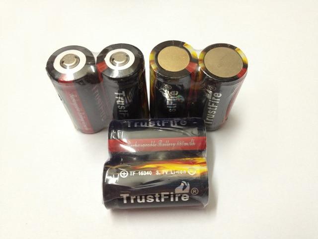 Оптовая продажа 100 шт./лот TrustFire красочные защищенные 16340 880mAh 3,7 V перезаряжаемые литиевые батареи с PCB для факела