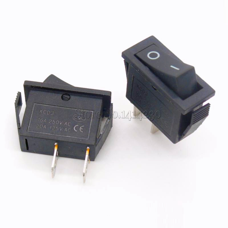 цена на 10Pcs Rocker Switch 15A 250V 30A 220VAC 2Pin/3Pin ON-OFF KCD3-102/N 15*32 mm Power Switch