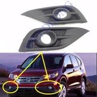 2 Pcs/Pair Front fog light bezel fog lamp covers trim RH and LH for HONDA CRV 2012 2014