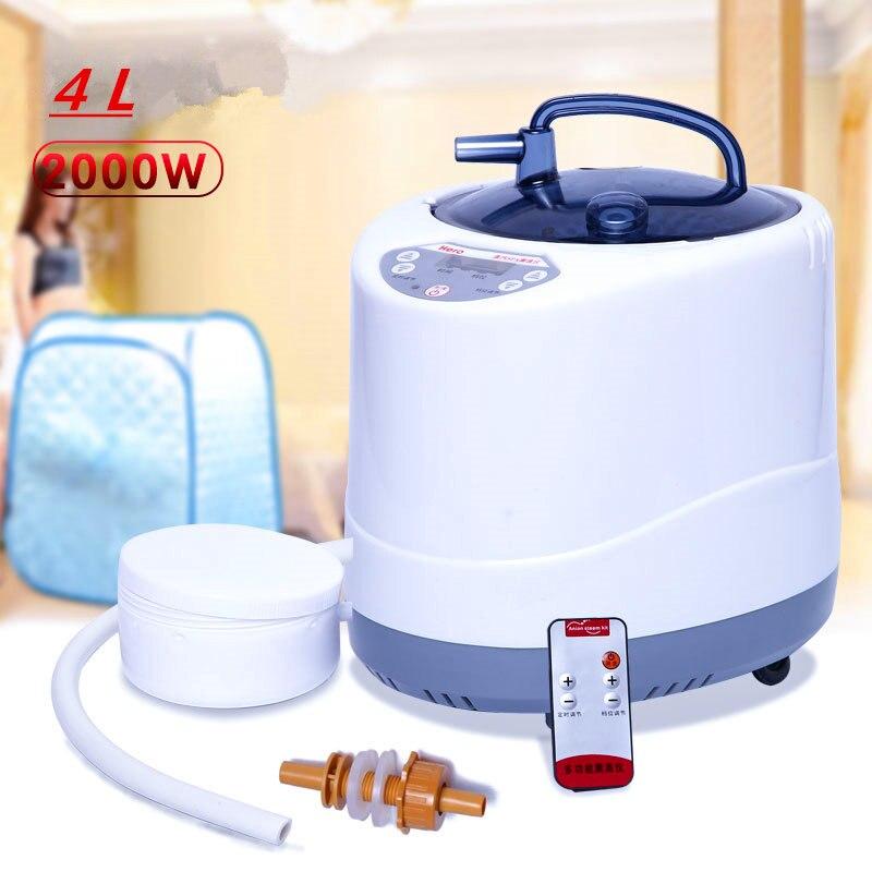Gerador de vapor 220 V/Plug UE 2000W 4L Panela de Vapor para Sauna A Vapor de Maior Capacidade De Barris De Madeira Grande vapor